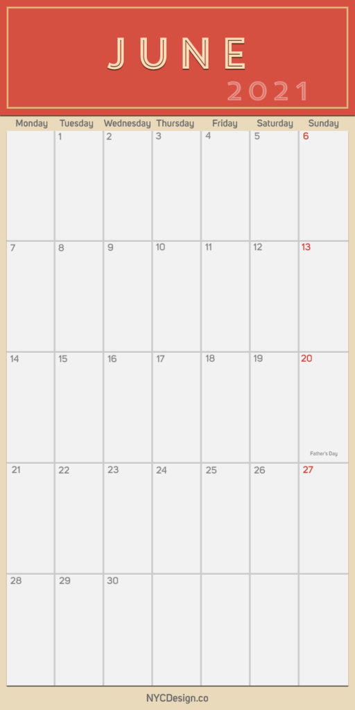 2021 June - Monthly Calendar with Holidays, Printable Free ...