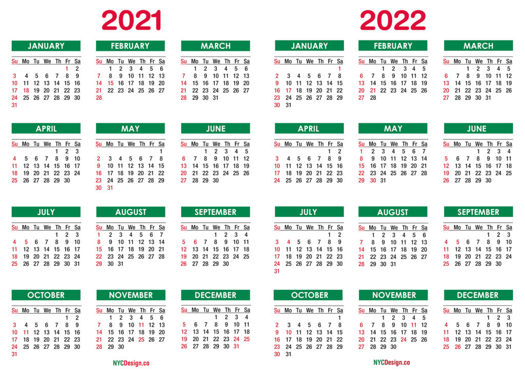 Calendar For 2021-2022 2021 2022 Calendar – NYCDesign.co | Calendars Printable Free