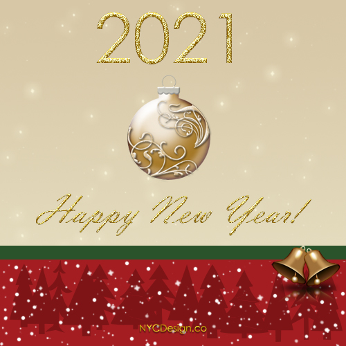 New Year Card 2021 Free Printable U2013 Ornament U2013 NYCDesign